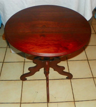 Solid Walnut Round Lamp Table - $399.00