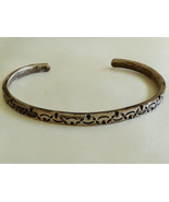 """HAND CRAFTED STERLING SILVER 925 METAL SIGNED CUFF BRACELET 7"""" - $88.11"""