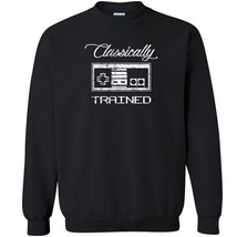 198 Classically Trained Crew Sweatshirt video game controller 80s ninten... - $23.99+
