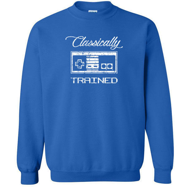 198 Classically Trained Crew Sweatshirt video game controller 80s nintendo new
