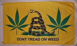 Don't Tread On Weed Gadsden Logo Flag 3' X 5' Indoor Outdoor Banner - $12.95