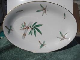"Noritake Canton 5027 Small platter, 12"" Bamboo ... - $25.95"