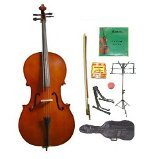 Primary image for Lucky Gifts 3/4 Size Cello,Bag,Bow+Rosin+Extra Strings+Tuner+2 Stands ~ Natural