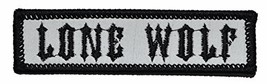 Lone Wolf Patch - 1x3.75 inch SEW-On / IRON-on - Black - $6.85