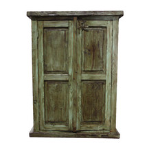 Reclaimed Green Utility Cabinet - Western - Rus... - $890.01