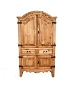 Promo Small Sierra Armoire Real Solid Wood Cabin Lodge Storage Rustic - $791.01