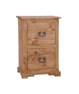 Rustic 2 Drawer File Cabinet Western Real Solid Wood Cabin Lodge - $444.51