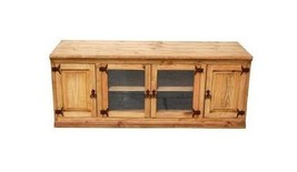 "60"" Flat Screen Console Real Solid Wood Rustic Western TV Stand Cabin Lodge - $593.99"