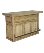 Honey Rustic Home Bar Solid Wood Man Cave Western Game Room Lodge Cabin - $985.05