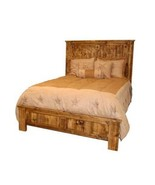 Western Rustic Reclaimed Bed King Queen Real Solid Wood Distressed Cabin... - $940.49+