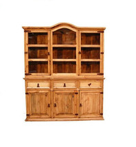 Rustic Medium 2 PC China Cabinet Western Solid ... - $985.05
