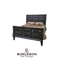 Rustic Stone Brown Poster Mission Queen Bed Shabby Chic New Style Black ... - $989.99