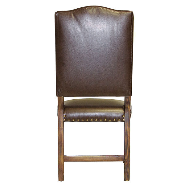 QTY 6 Sierra Madre Chocolate Leather Upholstered Chair Rustic Western Cabin