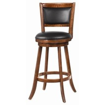 """29"""" Swivel Bar Stool With upholstered Seat Wood Trim - £109.60 GBP"""