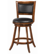 """24"""" Swivel Bar Stool With upholstered Seat Wood Seat - $140.29"""