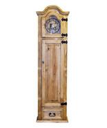 Grandfather Clock with Hidden Lockable Gun Cabinet Safe Real Wood Rustic... - $643.49
