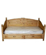 Rustic Twin Daybed with Pull Out Under Storage Drawers Western Solid Woo... - $722.69