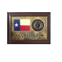 Lonestar Texas Flag and Seal Western Art Wall Picture Rustic Decor Frame... - $246.51