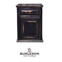Rustic Stone Brown Nightstand or End Table Solid Wood 1 Drawer 1 Door Sh... - $247.49