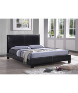 Faux Black Leather Twin Bed * Modern * Simple * Clean Lines * - $627.37