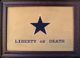 W890 Large Liberty or Death Flag Framed Art Western Rustic Office Decor ... - $247.49
