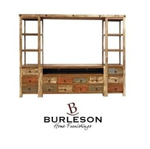 04-2-65-01-WALL Reclaimed Look Entertainment Center Multi Color TV Stand Unit - $1,532.21