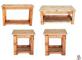 Rustic 1 Drawer Living Room Table Set Coffee Cocktail Sofa End Western R... - $1,084.05