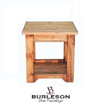 Honey Rustic 1 Drawer End Table Real Solid Wood Fully Assembled Cabin Lodge - $296.01