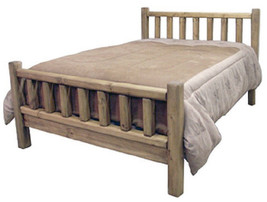 Western Queen Log Bed in Honey Rustic Finish * Real Wood * Free Shipping * - $608.22
