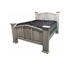 KING MANSION WHITE WASH - Rustic - Western - Free Shipping - Real Wood - - $1,138.49