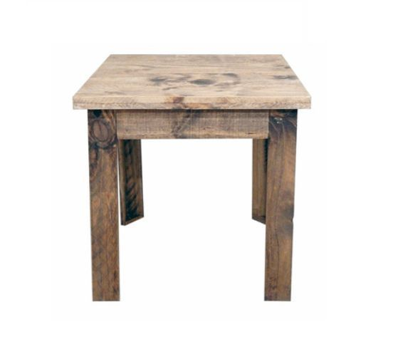 Western Reclaimed Rectangle Wood End Table Solid Wood Rustic Cabin Lodge