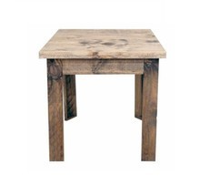 Western Reclaimed Rectangle Wood End Table Solid Wood Rustic Cabin Lodge - $217.79