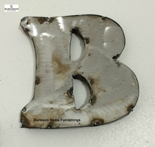 "5"" Tall Metal Welded Letter B * Free Shipping * Wall Hanging * Home Decor * - $19.79"