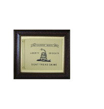 Small Culpeper Minute Men Framed Flag * Aged  * Real * Rustic * Western ... - £142.48 GBP