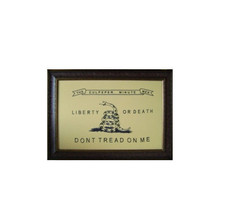Large Culpeper Minute Men Framed Flag * Aged  * Real * Rustic * Western ... - £185.91 GBP