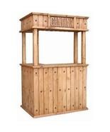 Rustic L Shaped Cantina Bar - 100% Real Wood - Custom Options - Free Shi... - $1,345.49