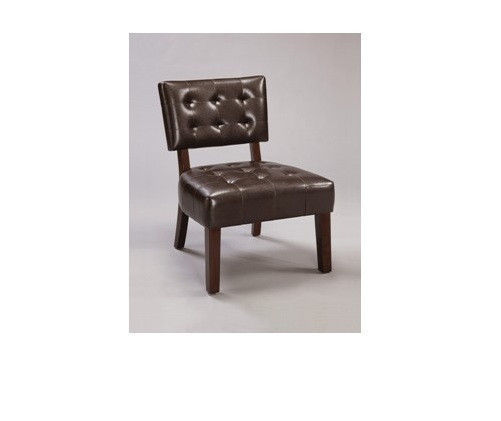 4984 Beverly Espresso Leather Accent Chair Free Shipping