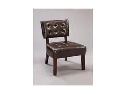 4984 Beverly Espresso Leather Accent Chair Free Shipping - $290.24