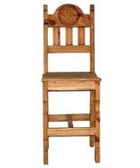 "30"" WOOD SEAT STAR BAR STOOL Rustic Western Real Solid Wood Lodge Cabin - $247.49"