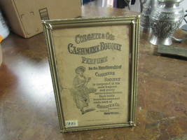 "ADVERTISING  1886   "" COLGATE & CO'S CASHMERE BOUQUET PERFUME  ""     - $12.00"