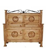 San Gabriel Bed with Star King Queen Full Rustic Western Cabin Lodge - $890.99+