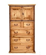 Hierro Iron Chest of Drawers Rustic Western Cabin Lodge Real Solid Wood - $851.39