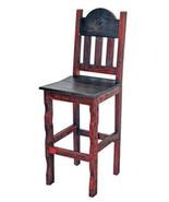 "30"" Red Scraped Bar Stool Real Solid Wood Rustic Western Lodge Cabin Dis... - $257.39"