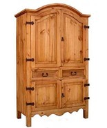Rustic Sierra Armoire Western Cabin Lodge Storage Pantry Closet Real Sol... - $1,088.99