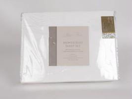 Rose Tree MONTICELLO Jacquard 4p White King Sheet Set - $128.20