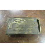 "1919 SOUVENIR BELT BUCKLE  "" COLT ARMY 44 CAL. MODEL 1860""    4"" X 2""   ... - $12.50"