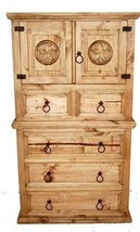 Rope Star Chest of Drawers Western Real Solid W... - $841.50