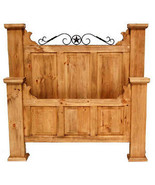 Hacienda Style Bed King Queen Full Rustic Western Lodge Cabin Real Solid... - $989.01+