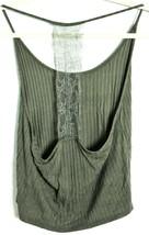 Fashion Nova Olive Green Lace Back Spaghetti Strap Cami Tank Top Size M image 2