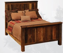 King Reclaimed Barnwood Traditional Style Bed * Solid Red Oak * Rustic *... - $2,398.74